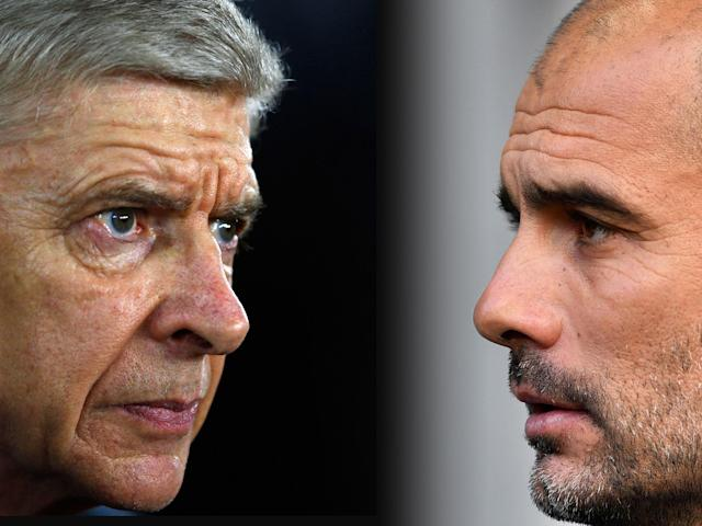 Arsene Wenger and Pep Guardiola go head to head on Sunday: Getty