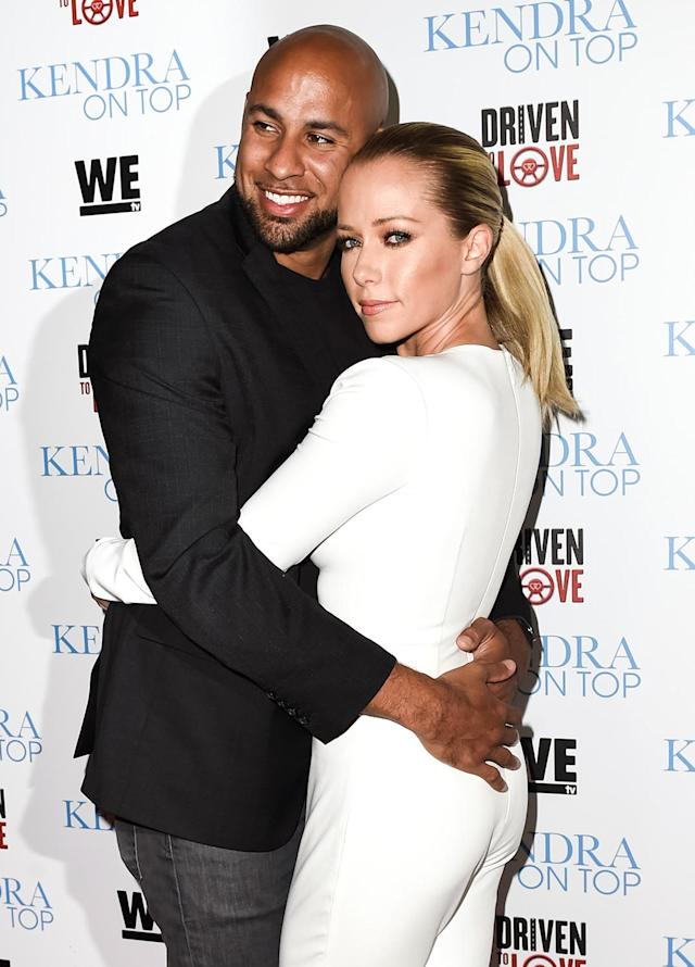 Hank Baskett and Kendra Wilkinson arrive at the WE TV celebration of the premieres of <em>Kendra on Top</em> and <em>Driven to Love</em> in March 2016. (Photo: Emma McIntyre/Getty Images)