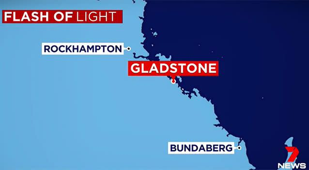 The suspected meteorite is believed to have landed off the coast of Gladstone. Photo: 7 News