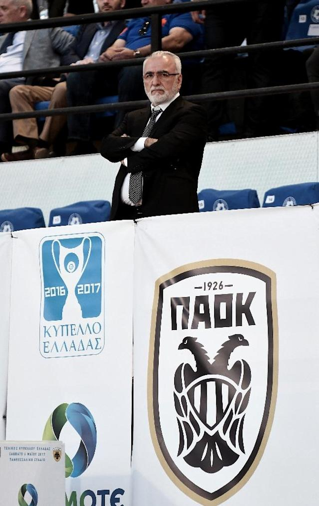 In Thessaloniki, Greece's neglected northern metropolis, PAOK FC owner Ivan Savvidis is feted as the man who has saved many of the top enterprises in the north from ruin (AFP Photo/SAKIS MITROLIDIS)