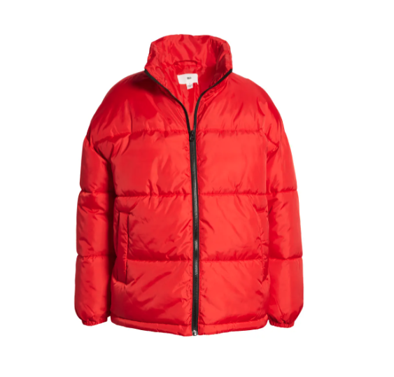 Product photo of BP. Oversized Puffer Jacket in red
