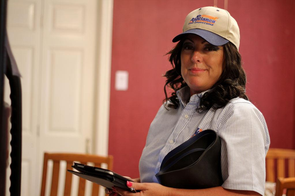 "Dina Dwyer-Owens, Chairwoman and CEO of The Dwyer Group goes undercover as seen on ""Undercover Boss."""