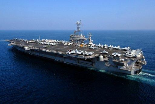 A handout picture from US Navy shows the USS John C. Stennis -- a Nimitz-class aircraft carrier. The United States will shift the majority of its naval fleet to the Pacific by 2020 as part of a new strategic focus on Asia, Pentagon chief Leon Panetta has told a summit in Singapore