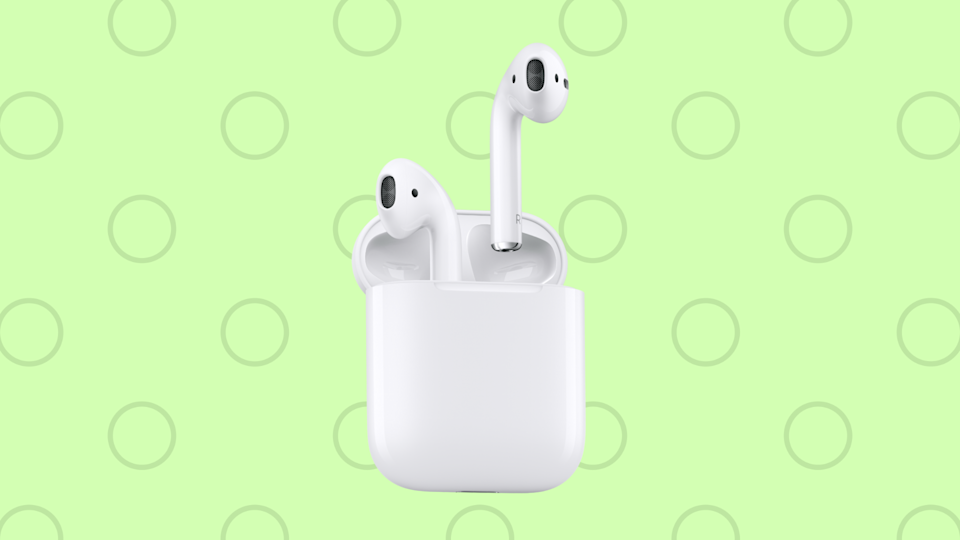 Save 49 bucks on the elegant standard Apple AirPods. (Photo: Apple)