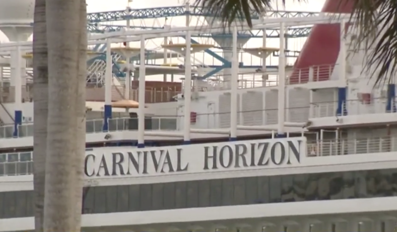 The Carnival Horizon vessel was subject to investigations following the death. Source: CBS Miami