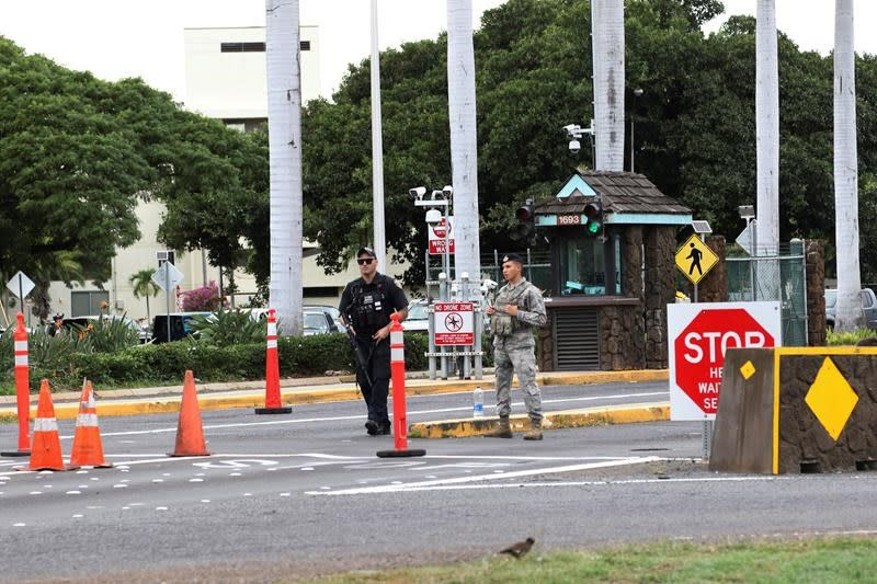 3 who brought mortar round to gate at Pearl Harbor released