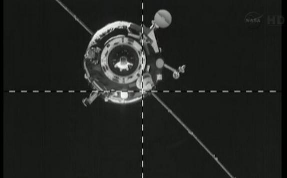 A Russian Progress 51 robotic spacecraft successfully docked to the International Space Station today (April 26, 2013).