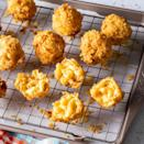 """<p>You'll need to plan ahead to make these fried mac and cheese balls, but the effort is well worth it! They're crunchy, cheesy, and totally irresistible. </p><p><a href=""""https://www.thepioneerwoman.com/food-cooking/recipes/a37246209/fried-mac-and-cheese-balls-recipe/"""" rel=""""nofollow noopener"""" target=""""_blank"""" data-ylk=""""slk:Get the recipe."""" class=""""link rapid-noclick-resp""""><strong>Get the recipe. </strong></a> </p>"""