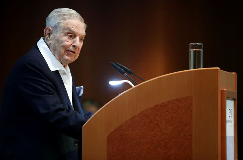 FILE PHOTO: FILE PHOTO: Billionaire investor George Soros is awarded the Schumpeter Prize in Vienna