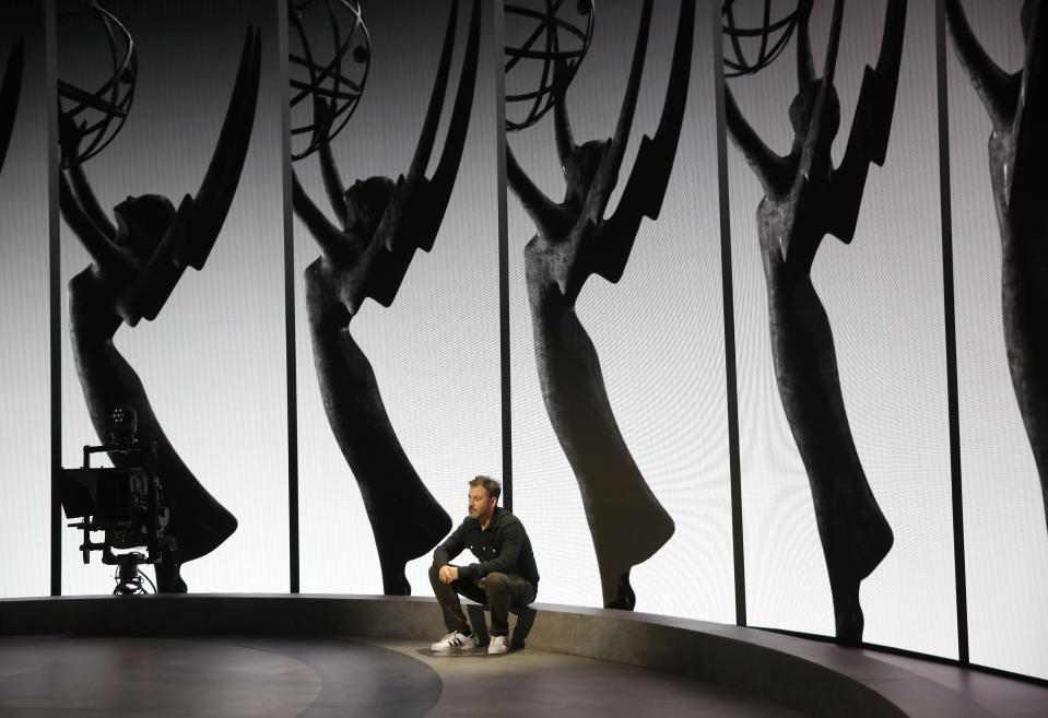 Jimmy Kimmel will host a virtual Emmys ceremony from the Staples Center. (Photo: Al Seib/Los Angeles Times)