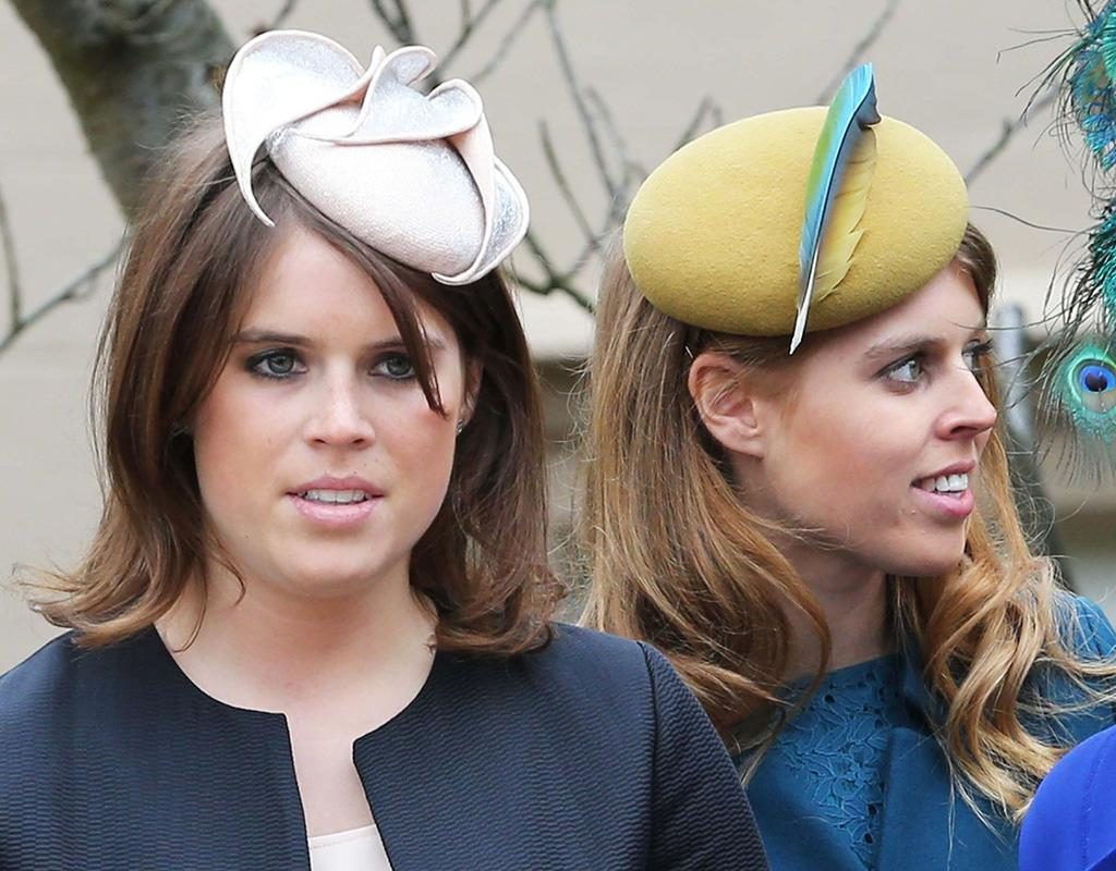 Princesses Eugenie and Beatrice never met crazy-looking chapeaus they didn't like. (3/31/2013)