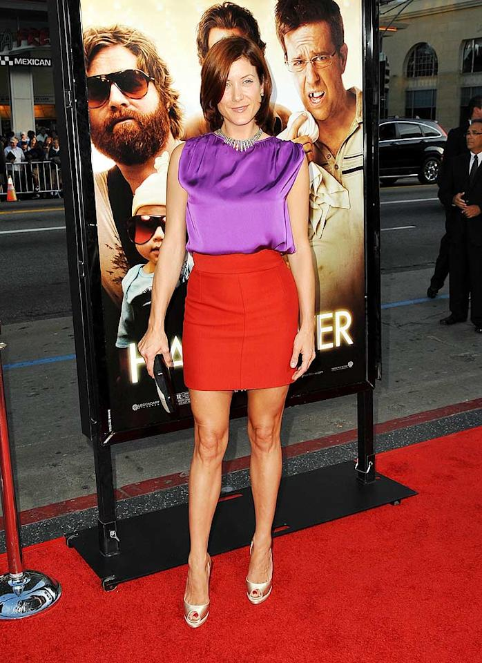"""Private Practice"" star Kate Walsh wowed the crowd at the LA premiere of ""The Hangover"" in a bold combo consisting of a purple silk sleeveless top and a red Stella McCartney skirt. Jordan Strauss/<a href=""http://www.wireimage.com"" target=""new"">WireImage.com</a> - June 2, 2009"