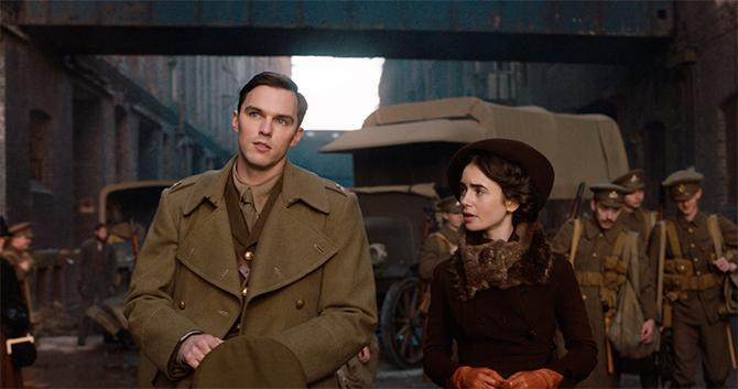 Nicholas Hoult and Lily Collins in Tolkien (Credit: Fox Searchlight)