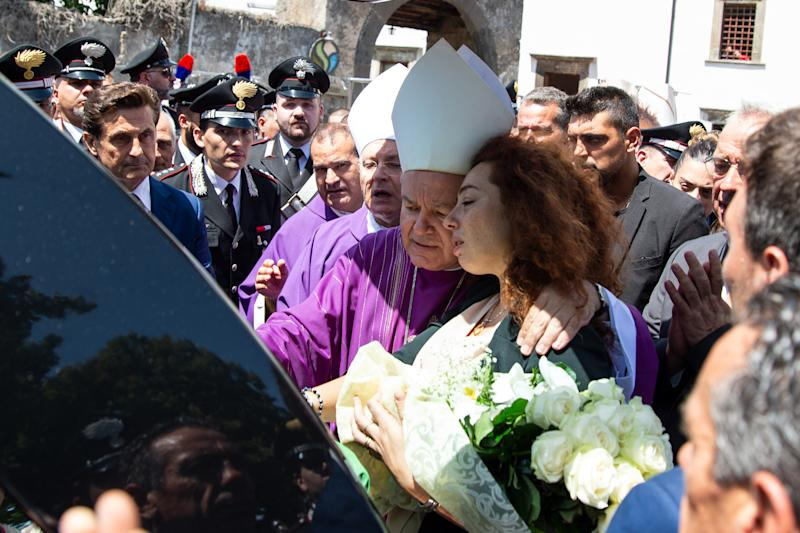 Maria Rosa ai funerali del marito Mario Cerciello Rega (Photo by Ivan Romano/Getty Images)