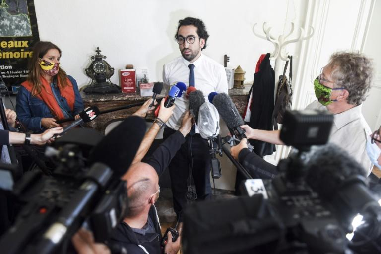 At a press conference Sunday in Nantes, lawyer Quentin Chabert declined to elaborate on why his client had tried to burn down the cathedral. (AFP Photo/Sebastien SALOM-GOMIS)