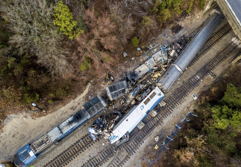 Image result for Amtrak Blames Freight Train Firm For Deadly South Carolina Crash