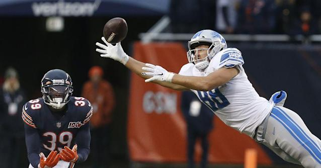 Notes: T.J. Hockenson grades 11th among first-round rookies per PFF
