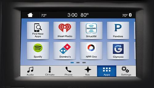 Ford Sync 3 app offerings