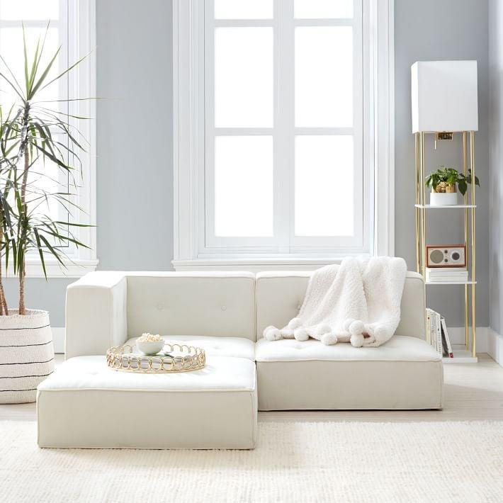 <p>This <span>PB Teen Cushy Piped Trim Sectional Set</span> ($769, originally $847) is a great option if you're working with a smaller space.</p>