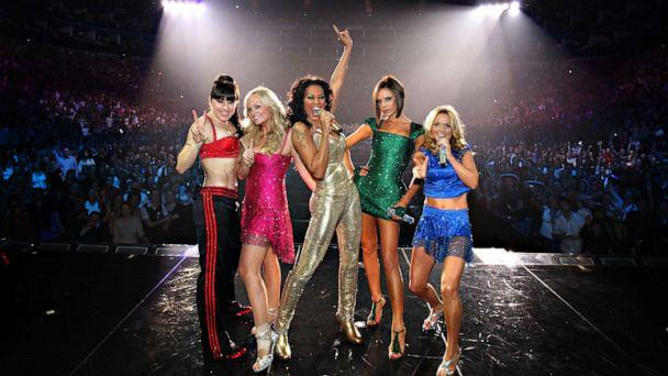 PHOTO: Left to right, Melanie Chisholm, Emma Bunton, Melanie Brown, Victoria Beckham and Geri Halliwell of the Spice Girls perform on stage during The Return of Spice Girls World Tour at the O2 Arena on Dec. 18, 2007, in London. (Mj Kim/spice Girls Llp/Spice Girls LLP via Getty Images)
