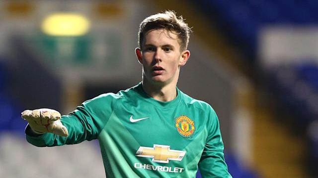 Louis van Gaal could have teenage goalkeeper Dean Henderson on the bench for Monday's FA Cup tie with Shrewsbury.