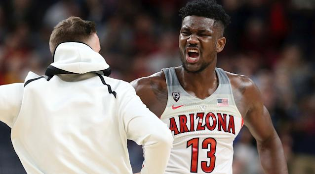 Deandre Ayton is peaking in March, which should have Arizona's potential NCAA opponents terrified. (AP)