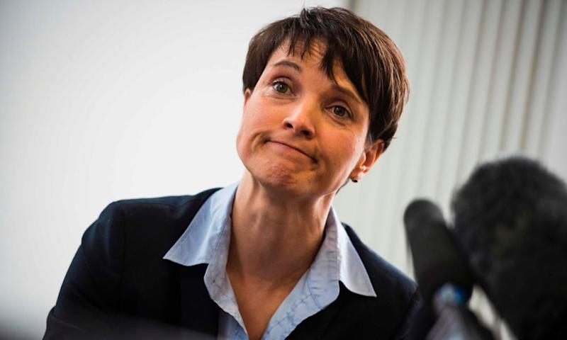 Frauke Petry at a press conference in Berlin