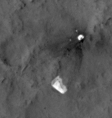 NASA Sees Curiosity Rover's Parachute Flapping in Martian Wind (Video)
