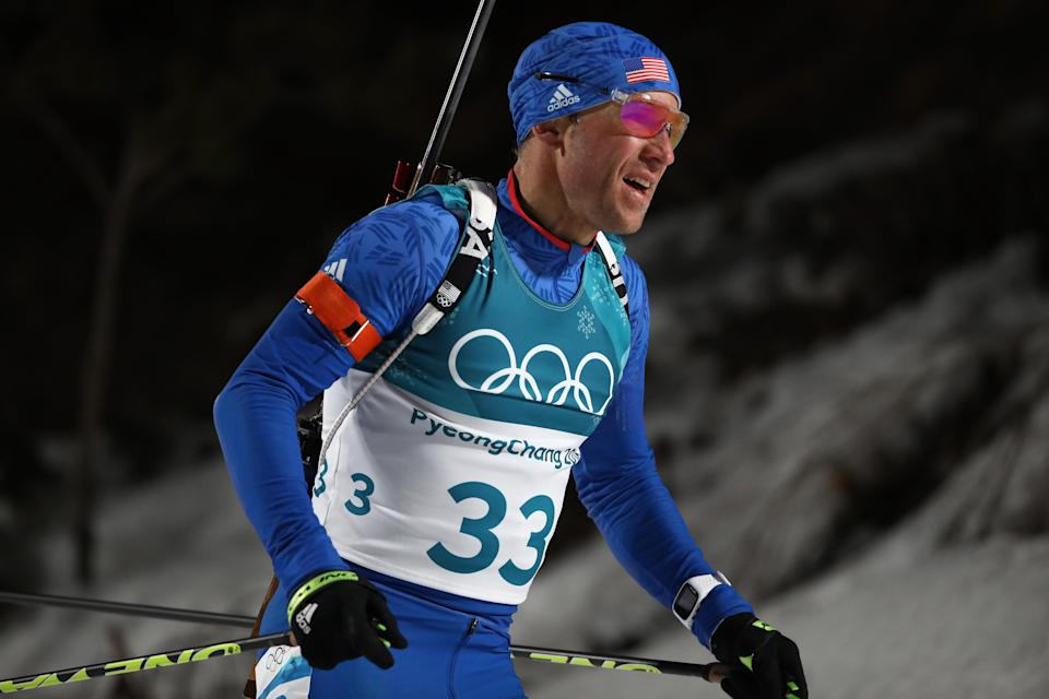 """American biathlete Lowell Bailey has no interest in owning a weapon that is """"designed to kill another human being."""" (Getty)"""