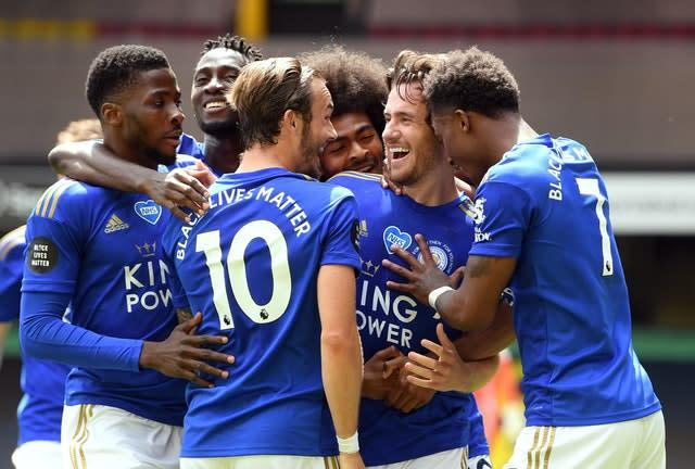 Ben Chilwell thought he had won it for Leicester (Michael Regan/NMC Pool/PA)