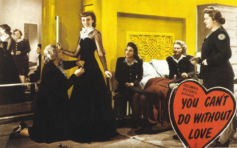 US lobby card for 'You Can't Do Without Love' aka 'One Exciting Night', 1944. (Photo by LMPC via Getty Images)