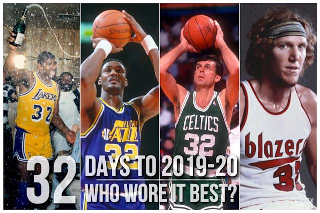 Which NBA player wore No. 32 best?