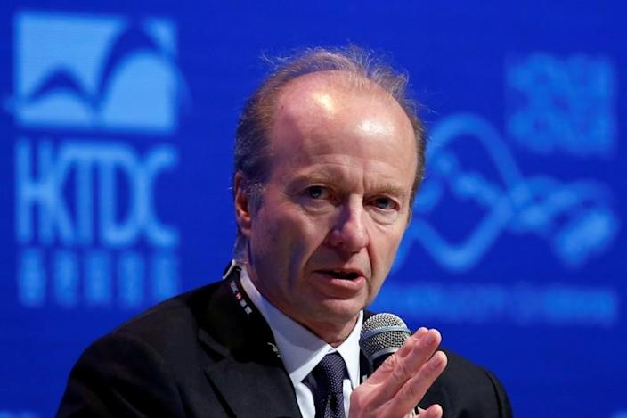 FILE PHOTO: Ashley Alder, Chief Executive Officer of Hong Kong's Securities and Futures Commission, attends the Asian Financial Forum in Hong Kong in 2018