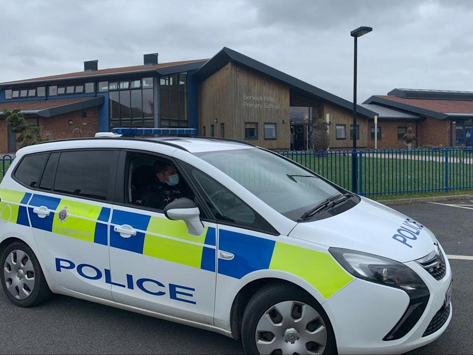 Police were called to the school as men with weapons entered the grounds (Cleveland Police)