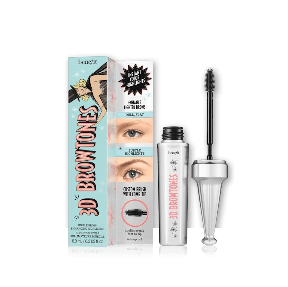 """<p><strong>Benefit Cosmetics</strong></p><p>benefitcosmetics.com</p><p><a href=""""https://go.redirectingat.com?id=74968X1596630&url=https%3A%2F%2Fwww.benefitcosmetics.com%2Fus%2Fen%2Fproduct%2F3d-browtones&sref=https%3A%2F%2Fwww.marieclaire.com%2Fbeauty%2Fg33323791%2Fbenefit-sale-july-2020%2F"""" rel=""""nofollow noopener"""" target=""""_blank"""" data-ylk=""""slk:SHOP IT"""" class=""""link rapid-noclick-resp"""">SHOP IT</a></p><p><del>$24</del><strong><br>$12</strong></p><p>Anyone who wants to improve their brow game will find a lot to love about Benefit's enhancer. This option is available in seven (!) shades. </p>"""
