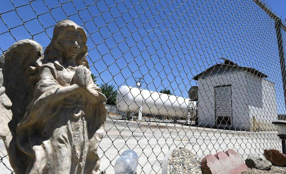 Nestled in a residential neighborhood in Earlimart is a troubled well on Mary Ann Avenue. A neighbor placed the angel.