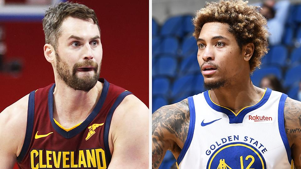 Kevin Love is nearing a return from a lengthy injury absence, while Kelly Oubre Jr has turned around his dismal start to the NBA season. Pictures: Getty Images