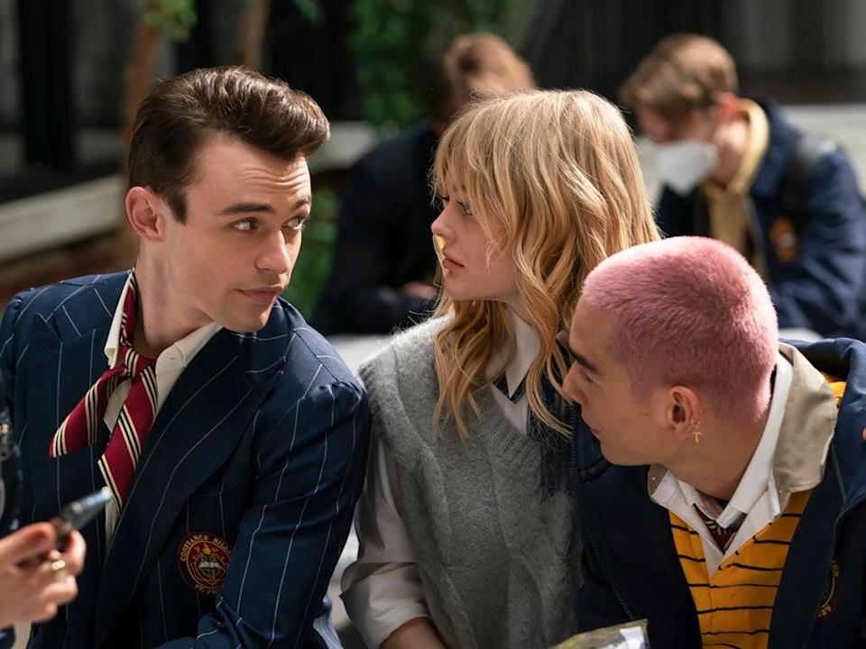 Chronically nice: Thomas Doherty, Emily Alyn Lind and Evan Mock in 'Gossip Girl' (HBO Max)
