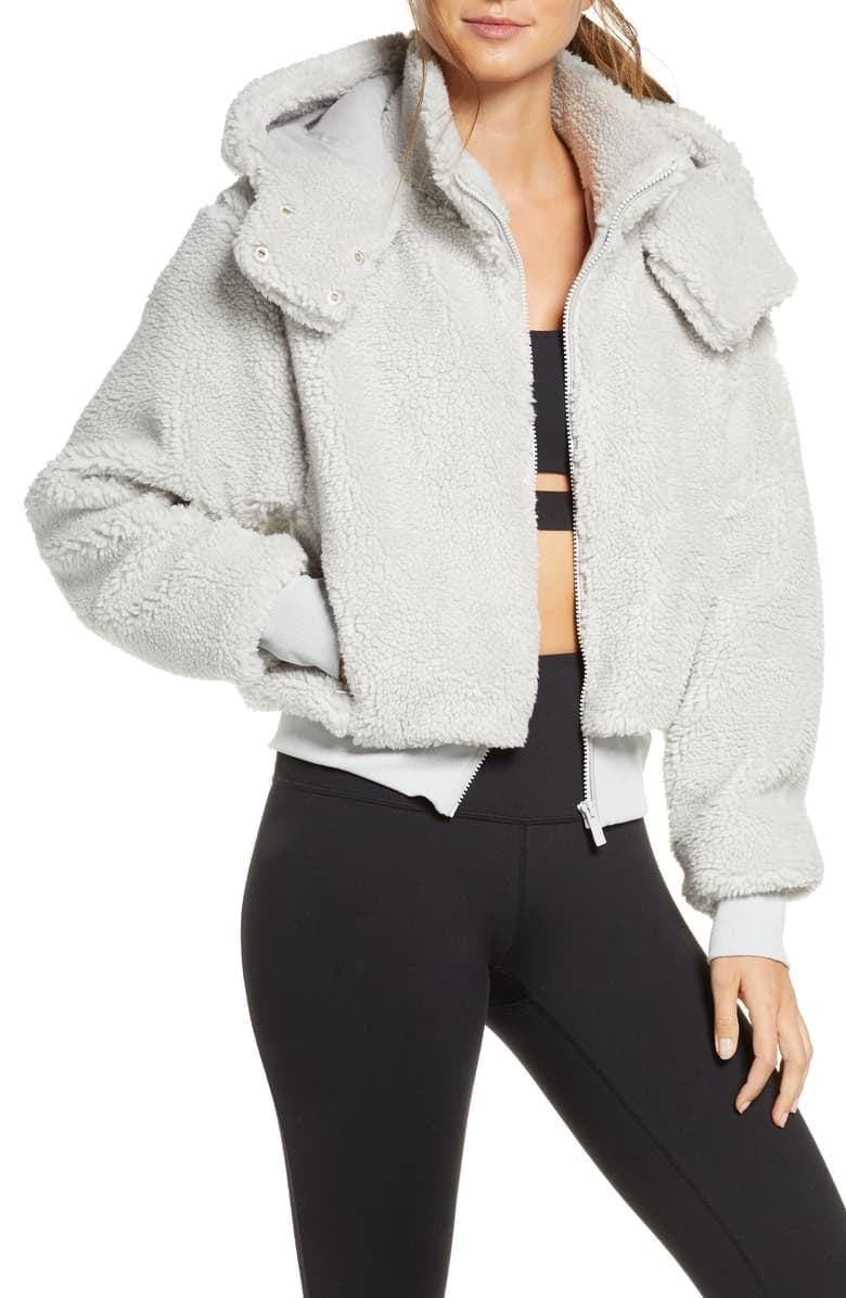 <p>The nice thing about the <span>Alo Foxy Faux Sherpa Jacket</span> ($188) is that it can be dressed up or down depending on the occasion.</p>