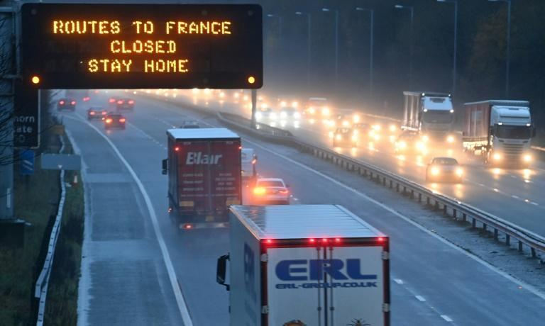 Road signs urged people to go home, saying that the French border is closed.