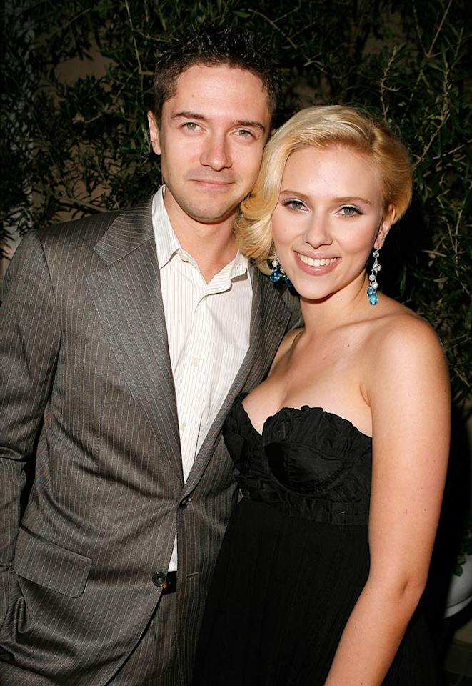 """Topher Grace came out to celebrate his """"In Good Company"""" co-star Scarlett Johansson. Jeff Vespa/<a href=""""http://www.wireimage.com"""" target=""""new"""">WireImage.com</a> - October 15, 2007"""