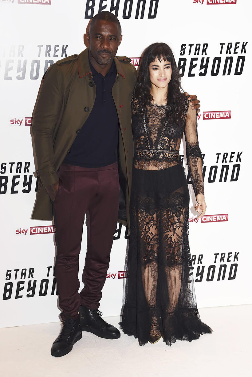 <p>Idris Elba (Krall) and Sofia Boutella (Jaylah) in London on July 12, 2016. The two new additions to the <i>Star Trek </i>universe star as a villain and Enterprise ally, respectively. <i>(Photo: Dave J Hogan/Getty Images)</i></p>