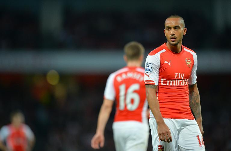 Arsenal's Theo Walcott, pictured during their English Premier League match at Emirates Stadium in London, on November 1, 2014 (AFP Photo/Glyn Kirk)
