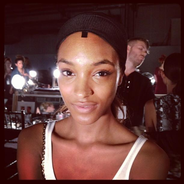 Backstage At New York Fashion Week: What's In Jourdan Dunn's Make-Up Bag?