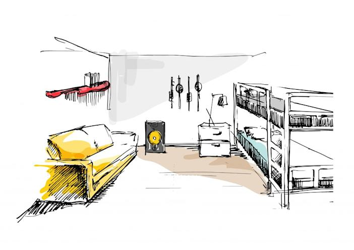 AirbnbxG-Dragon_Dukyang Studio_Sketch-music room