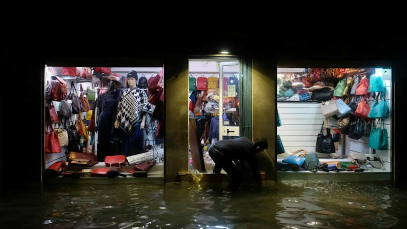 Venice flooded by highest tide in 50 years