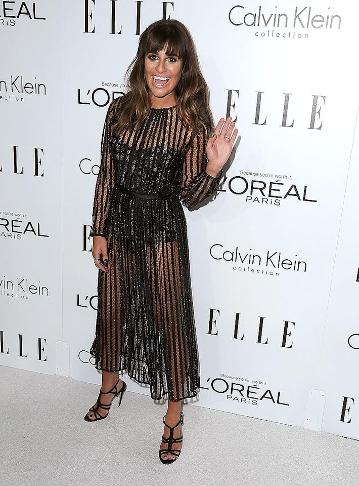 BEVERLY HILLS, CA - OCTOBER 15:  Lea Michele arrives at the 19th Annual ELLE Women In Hollywood Celebration at Four Seasons Hotel Los Angeles at Beverly Hills on October 15, 2012 in Beverly Hills, California.  (Photo by Steve Granitz/WireImage)