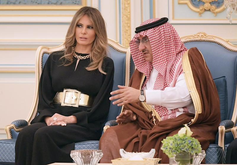First Lady Melania Trump met with Saudi Deputy Crown Prince Muhammad bin Nayef bin Abdulaziz al-Saud in during a trip to Saudi Arabia.