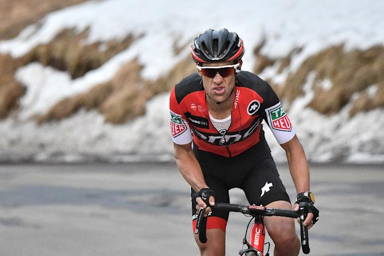 Australia's Richie Porte rides in a breakaway during the 177 km seventh stage of the 75th edition of the Paris-Nice cycling race, between Nice and Col de la Couillole, on March 11, 2017
