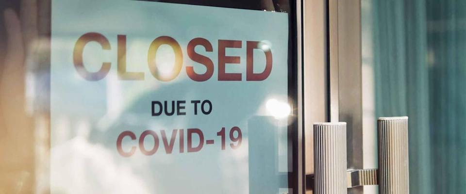 Business office or store shop is closed, due to the effect of novel Coronavirus (COVID-19) pandemic.